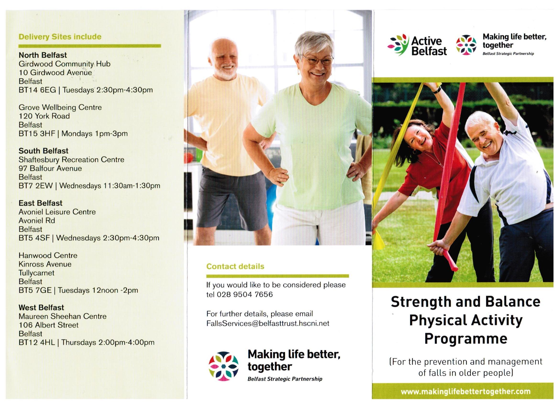 STRENGTH & BALANCE PHYSICAL ACTIVITY PROGRAMME